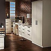 Welcome Furniture Contrast Tall Plain Wardrobe - Vanilla
