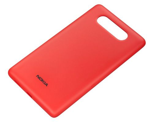 Nokia CC-3041 Wireless Charging Shell Case for Nokia Lumia 820 - Red