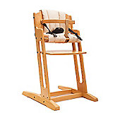 Beech BabyDan Danchair High Chair & Beige Comfort Cushion