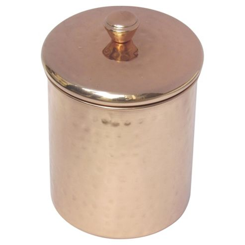 Buy Hammered Storage Canister Small Copper From Our Food