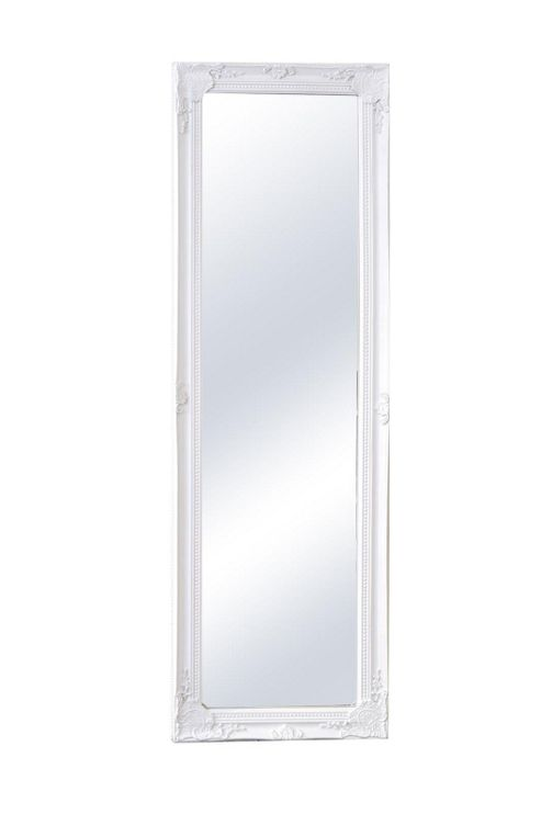 Buy large white ornate full length dressing wall mirror for White full length wall mirror