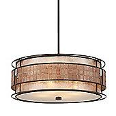 Quoizel Laguna 4 Light Pendant in Renaissance Copper