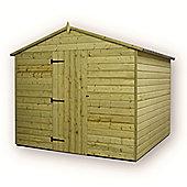 10ft x 8ft Premier Windowless Pressure Treated T&G Apex Shed + Higher Eaves & Ridge Height + Single Door