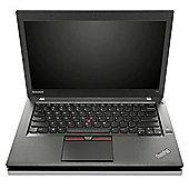 "Lenovo ThinkPad T450 14"" Intel Core i5 Windows 7 Pro 8GB RAM 256GB SSD Laptop Black"