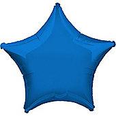 Blue Star Balloon - 32' Metallic Foil (each)