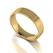 9ct Gold 5mm Flat Court Wedding Band
