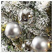 Christmas Baubles, Silver, 4 pack