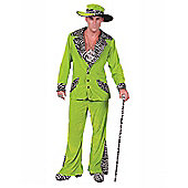 Green Pimp Costume & Hat Extra Large