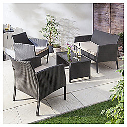 Marrakech 4-piece Rattan Garden Furniture Set
