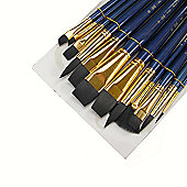 Royal Brush ZipLock Set - Soft Black Taklon Flat Variety
