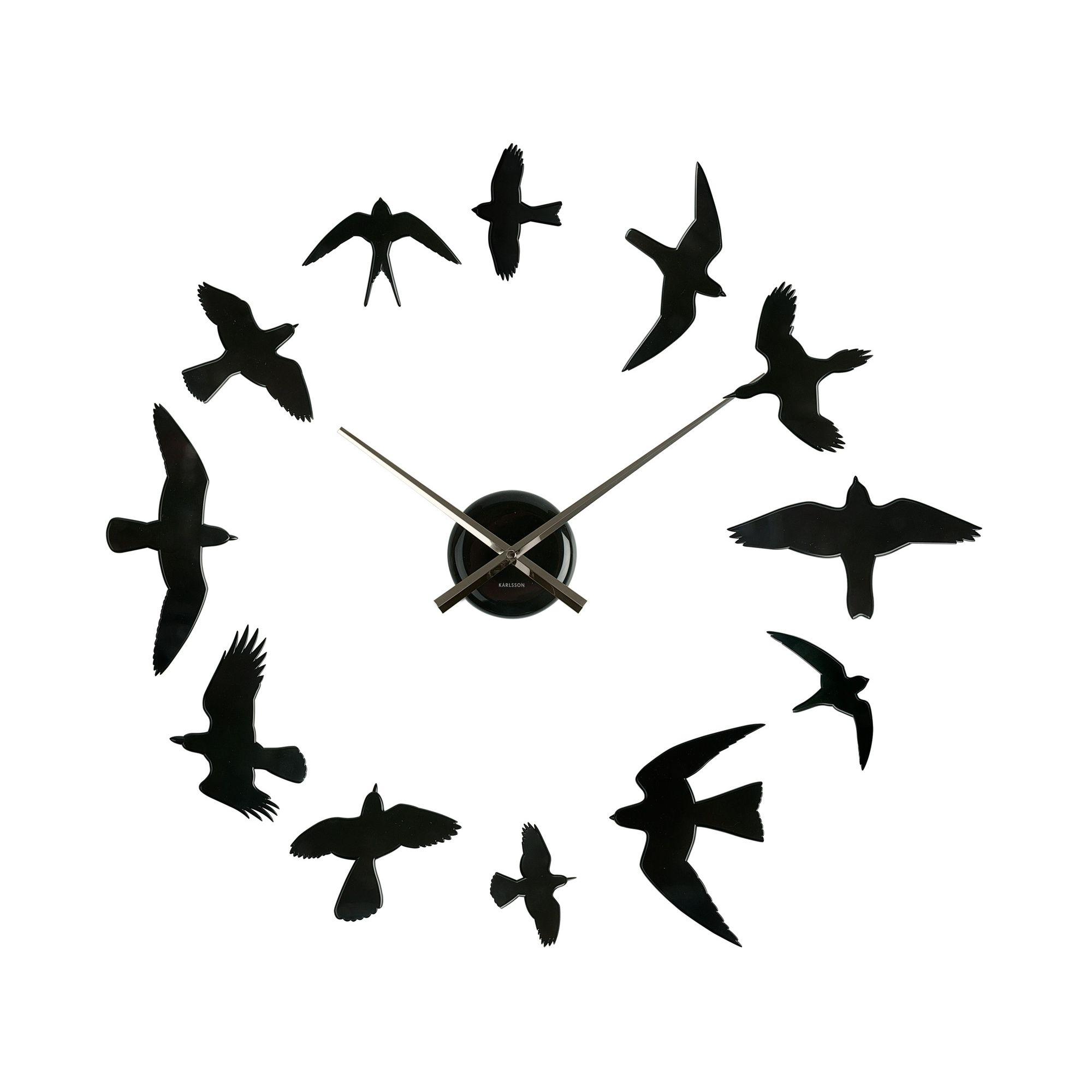 Home and garden karlsson falling numbers wall clock black offerta karlsson 13cm wall clock in matt black amipublicfo Images