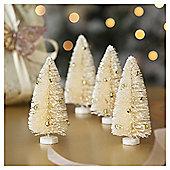 Mini Sisal Christmas Tree, 4 pack