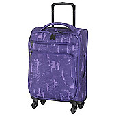 IT Luggage Megalite 4-Wheel Suitcase, Purple Small
