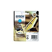 Epson Pen and Crossword 16 (RF/AM) Ink Cartridge (Cyan) 3.1ml for Epson WorkForce WF-2010DW/WF-2510WF/WF-2520WF/WF-2530WF/WF-2540WF (3 day lead)