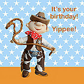 Holy Mackerel Birthday cowboy Greetings Card