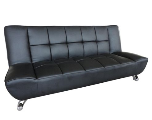 Home Zone Vogue 3 Seater Convertible Sofa Clic Clac Bed - Black