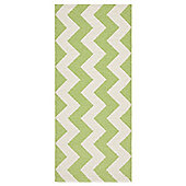 Swedy Mora Green / White Rug - Runner 60 cm x 160 cm (2 ft x 5 ft 3 in)