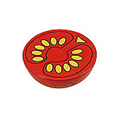 Bigjigs Toys BJF110 Wooden Play Food Half Tomato (Pack of 2)