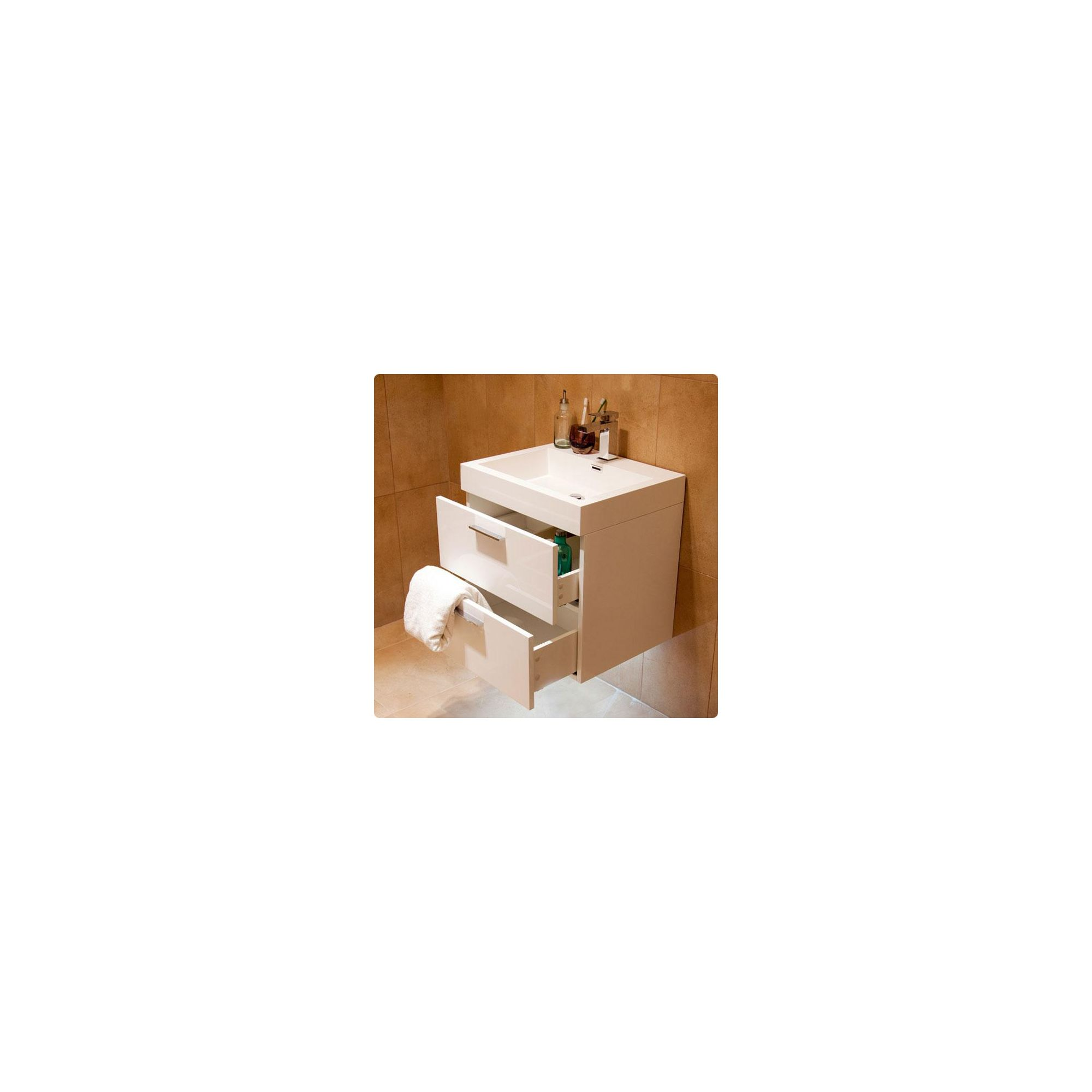 Durab Evolution Bathroom WHITE Vanity Unit including Basin 580mm Wide x 468mm Deep