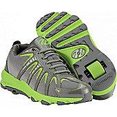 Heelys Sonar Neon Green/Silver Heely Shoe - Green