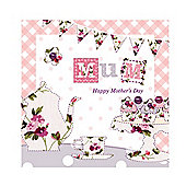 Vintage Floral Afternoon Tea Mother's Day Card