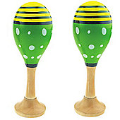 Bigjigs Toys Junior Maracas (One Pair - Green)