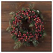 Tesco Berry Wreath, 1ft