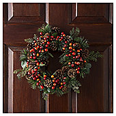 Tesco Berry Wreath, 1ft