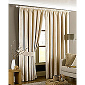 Emperor Pencil Pleat Ready Made Curtains- Fully Lined - 5 Colours - Cream