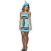 Women's Crayola Fancy Dress Costume SKY BLUE