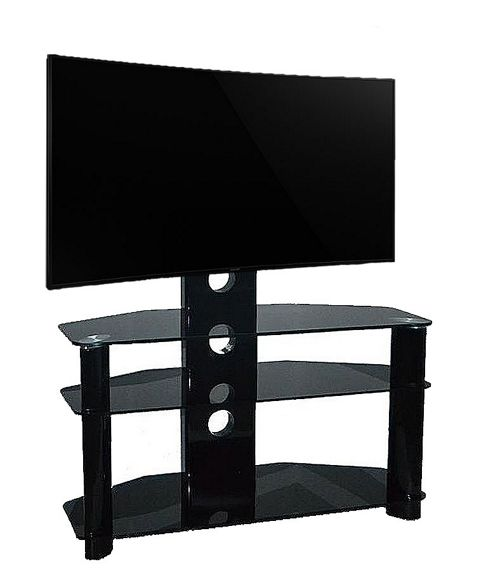 Piano Black Universal TV Stand With Bracket for TVs up To 50 inch