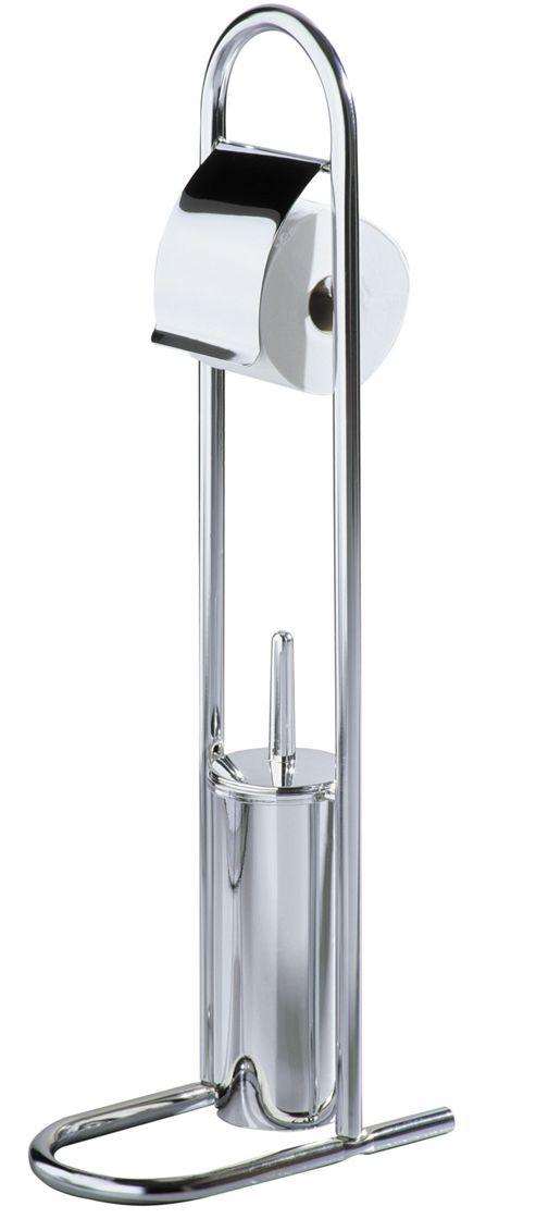 premier housewares toilet brush and roll holder in chrome. Black Bedroom Furniture Sets. Home Design Ideas
