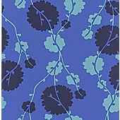 Graham & Brown Amy Butler Georgia Wallpaper - Navy Blue