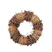 Red Berry Twig Christmas Door Wreath