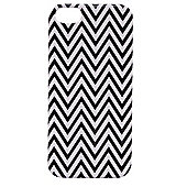 "Tortoiseâ""¢ Hard Protective Case, iPhone 5/5S, Chevron Design, Black/White."