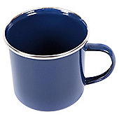 Summit Enamel Camping Mug with Stainless Steel Rim, Blue 300ml