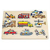 Hape Emergency Vehicle Peg Puzzle