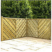 4FT Pressure Treated Chevron Weave Fencing Panels - 1 Panel Only 4'