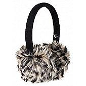 Audio Earmuff Leopard Print Fur