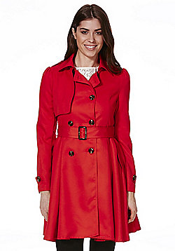 Cutie Trench Coat - Red