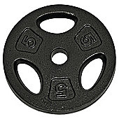 Golds Gym 5kg Cast Iron Weight Plate