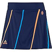 adidas Roland Garros Womens Girls Sports Skort Skirt Blue - Blue