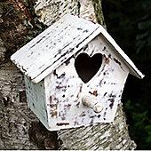Birdhouse with Heart Door - Hand Made