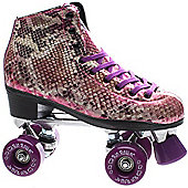 Rio Roller Chic Womens Blue Snake Quad Roller Skates 2 Colours - Size UK3-UK9 - Purple