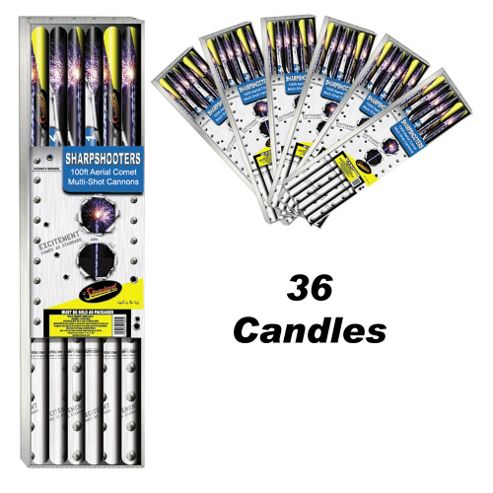Sharpshooters 36 Roman Candle Firework