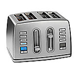 Cuisinart CPT445U 4 Slice Brushed Stainless Steel Digital Toaster.
