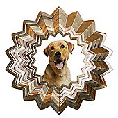 Iron Stop Designer Glitter Golden Labrador Wind Spinner 10in