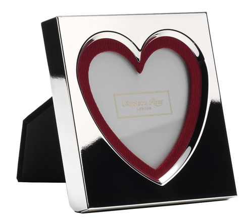 Addison Ross Message Photo Frame Silver Plate Heart Frame