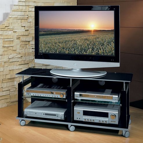 Triskom Wooden TV Stand for LCD / Plasmas - Black