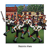 Holy Mackerel Morris Men Greetings Card